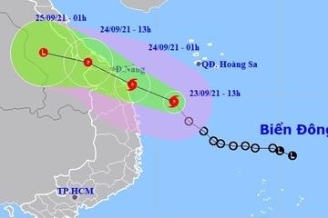 Bão số 6 hướng vào vùng biển Thừa Thiên Huế đến Quảng Ngãi, mưa lớn từ Quảng Trị đến Bình Định