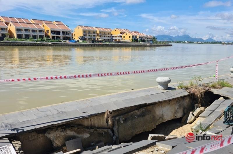 Hội An: Kè hàng trăm tỷ đồng sụt lún, đe dọa nhà dân trước mùa mưa bão