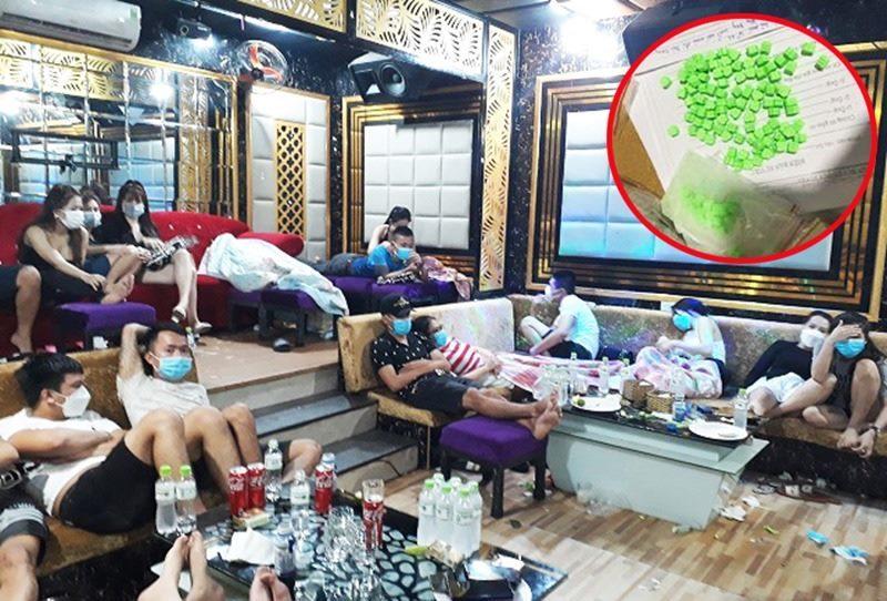 Bắt quả tang 53 nam nữ 'phê' ma túy trong quán karaoke
