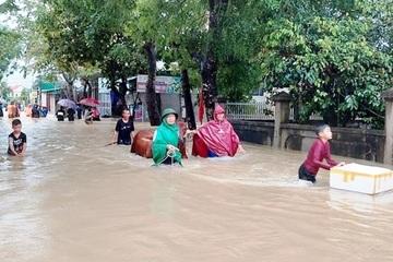 Mưa rất to ở các tỉnh Thanh Hóa đến Thừa Thiên Huế, đề phòng ngập úng, sạt lở đất