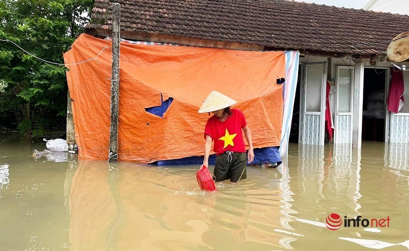 ngập sâu,hỗ trợ,Quỳnh Lưu,Nghệ An,mưa lũ,thiên tai,bão số 6,lụt