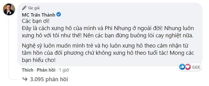 Trấn Thành,Phi Nhung