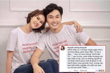 Bị anti-fan cà khịa 'mối tình chị em' với Đình Tú, diễn viên Hương Giang đáp trả thẳng thắn