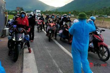 Hơn 700 người di chuyển bằng xe máy đã về đến Hà Tĩnh