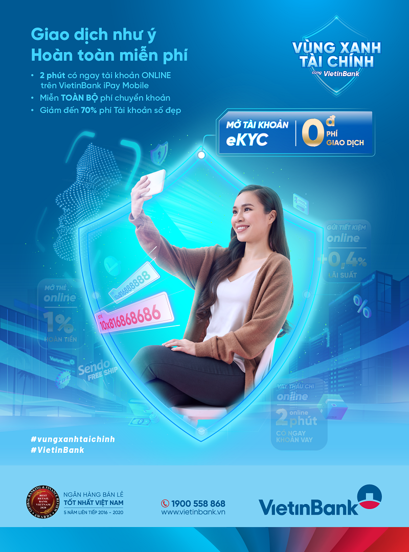 Giao dịch thông minh với các Gói Tài khoản 0 phí của VietinBank