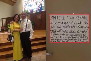 'Lịm tim' đọc lời nhắn của người vợ dành cho chồng 3 lần bị tai biến