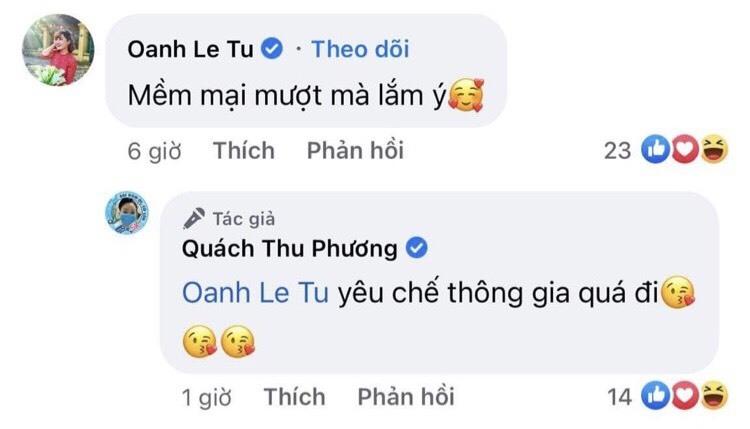 Diễn viên Tú Oanh trầm trồ trước nhan sắc 'không tuổi' của chị thông gia Quách Thu Phương trong 'Hương vị tình thân'