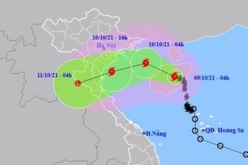Bão số 7 sẽ ảnh hưởng vùng biển từ Hải Phòng đến Hà Tĩnh, gió giật cấp 10