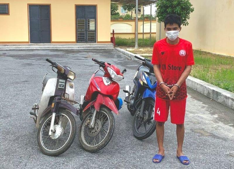 'Con nghiện' từ Nghệ An vào Hà Tĩnh trộm cắp 8 xe máy