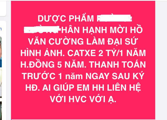 Bà chủ tuyên bố trả 10 tỷ cát xê cho Hồ Văn Cường, không làm cũng tặng 200 triệu, là ai?