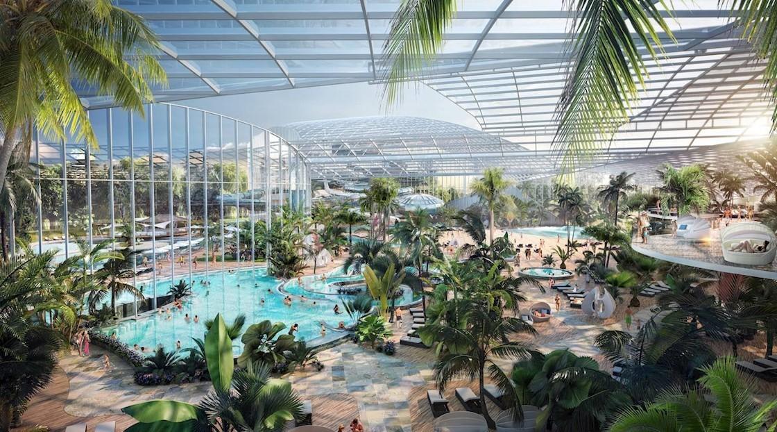 Chiêm ngưỡng công viên nước trong nhà lớn nhất nước Anh với 25 hồ bơi và 35 cầu trượt