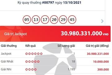 Một người ở Hà Tĩnh trúng Vietlott giải Jackpot hơn 30 tỷ đồng