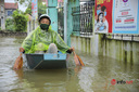 Hà Nội: Nước sông Bùi lên cao, hàng trăm hộ dân ở Chương Mỹ bị ngập nặng
