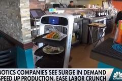 Thiếu lao động trầm trọng, các nhà hàng Mỹ phải sử dụng robot