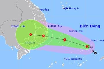 Áp thấp nhiệt đới khả năng mạnh thành bão hướng vào Bình Định - Bình Thuận
